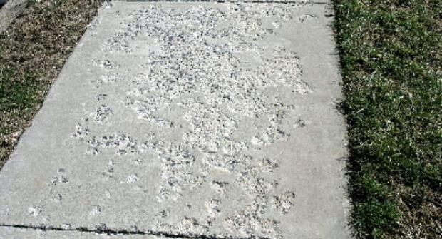salt damage to concrete